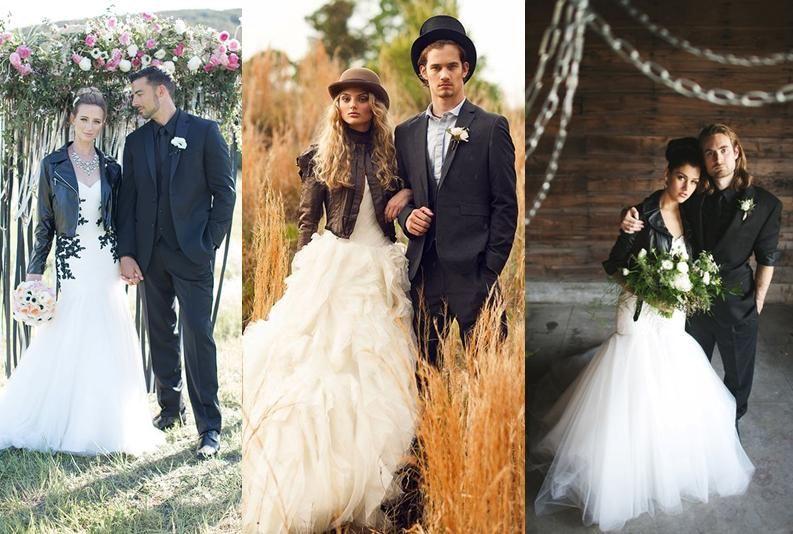 vestidos de novia ¿con chaquetas de cuero? | chamarras en 2019