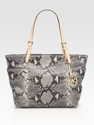 Okay Michael Kors Has Talked Me Into Adoring Another Snake Here Is His Print Leather Tote Bag