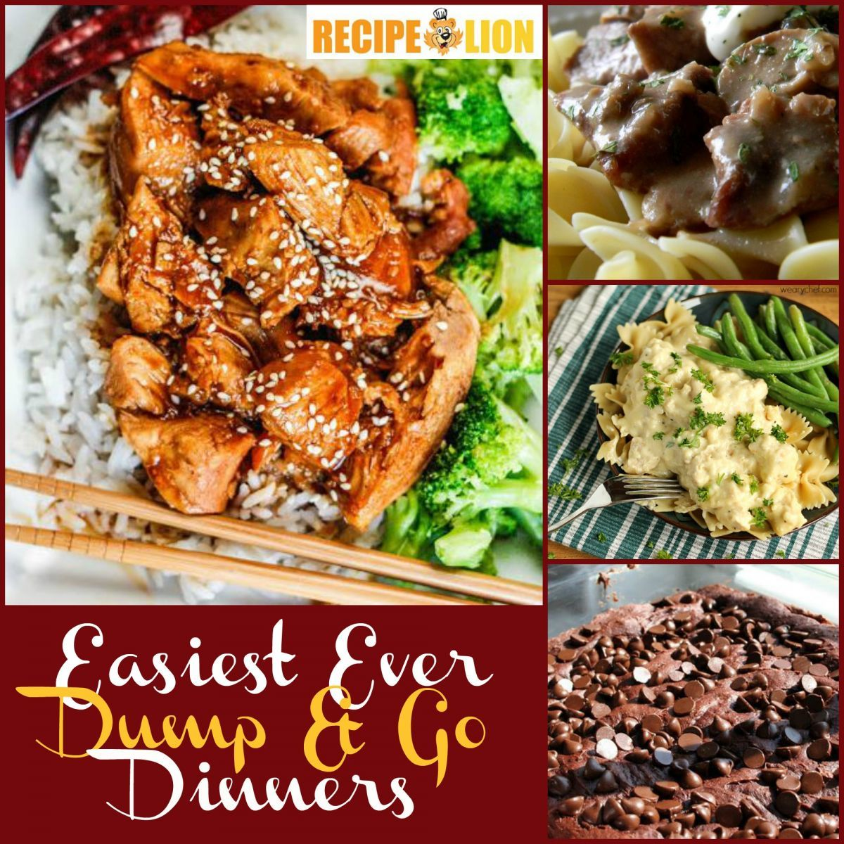 Easy Dinner Time Recipes: Dump And Go Dinners: 36 Easy Weeknight Dinner Ideas + 4