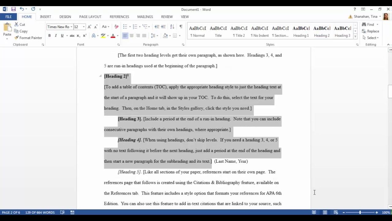 Apa Template In Microsoft Word 2016 For Apa Format Template Word