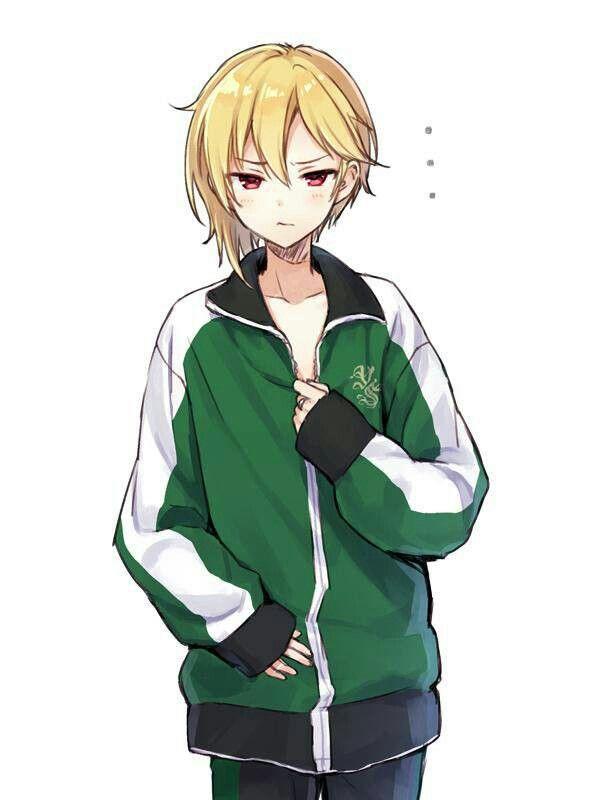 あんスタ 仁兎なずな に ちゃん ジャージ 天使 萌え袖 金髪 イラスト アニメ 男性 かわいいアニメガール