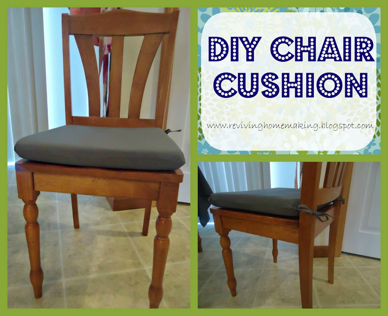 DIY Chair Cushion | Diy chair cushions, Kitchen chair ...