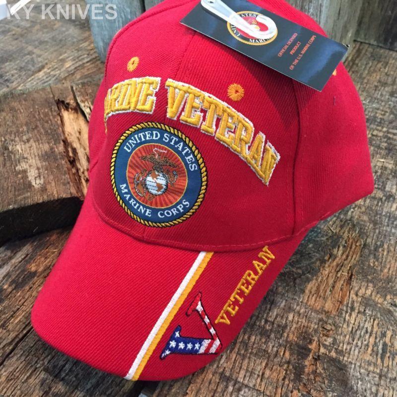 OFFICIALLY LICENSED U S MARINE CORPS USMC VETERAN VET RED