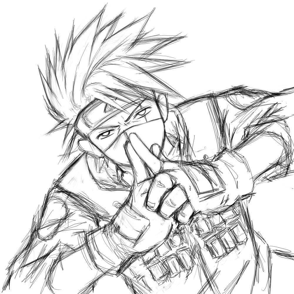 Kakashi Sketch By Yuri Nikko