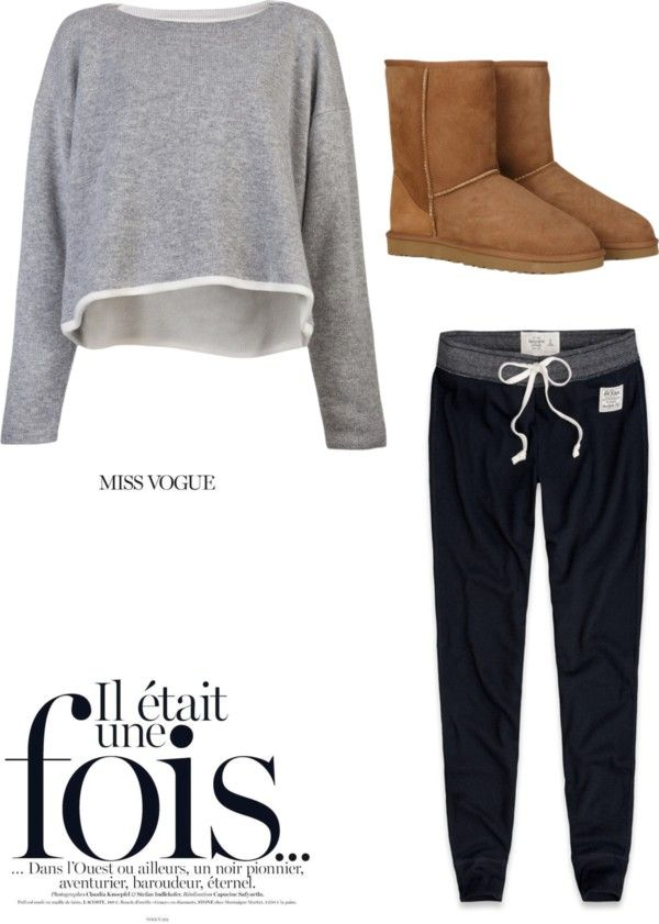 """lazy day outfit""georgiag03 liked on polyvore"