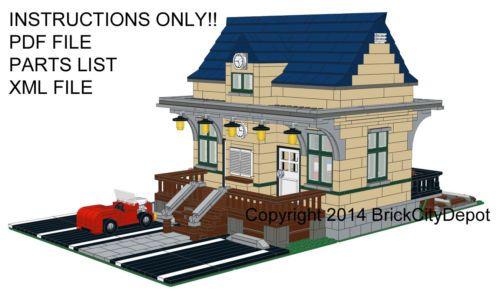 Lego City Custom Train Station Instructions Only Pinterest