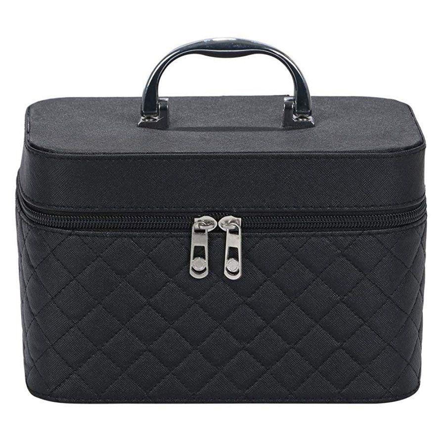 Photo of メイクボックス コスメボックス ジャストサイズ 化粧箱 収納ケース 小物差 ミラー 付