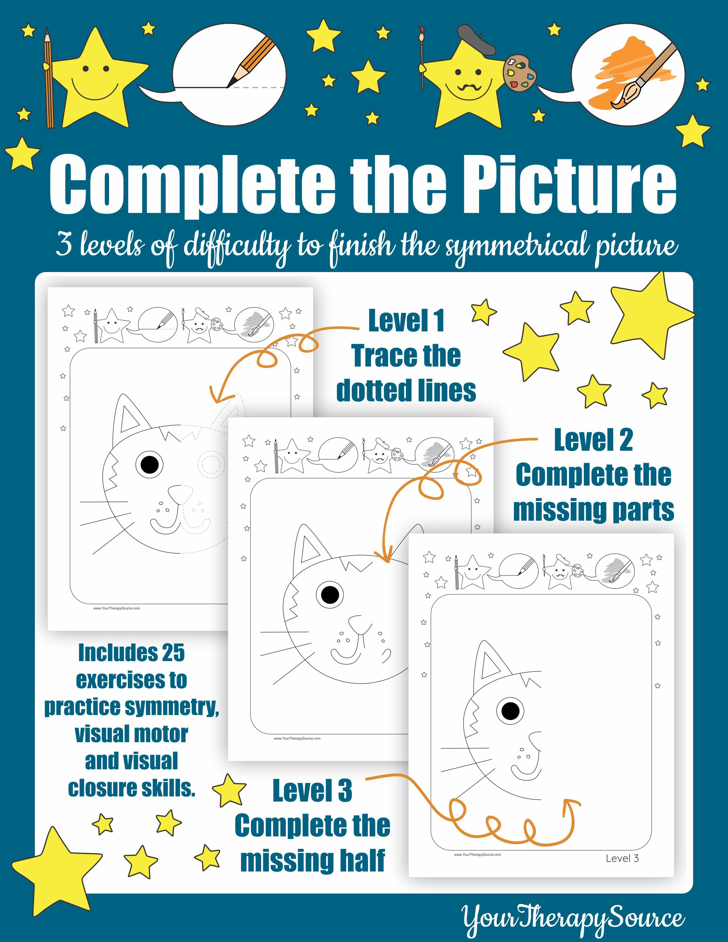 Complete the Picture - Symmetrical Exercises | Pre-K ...