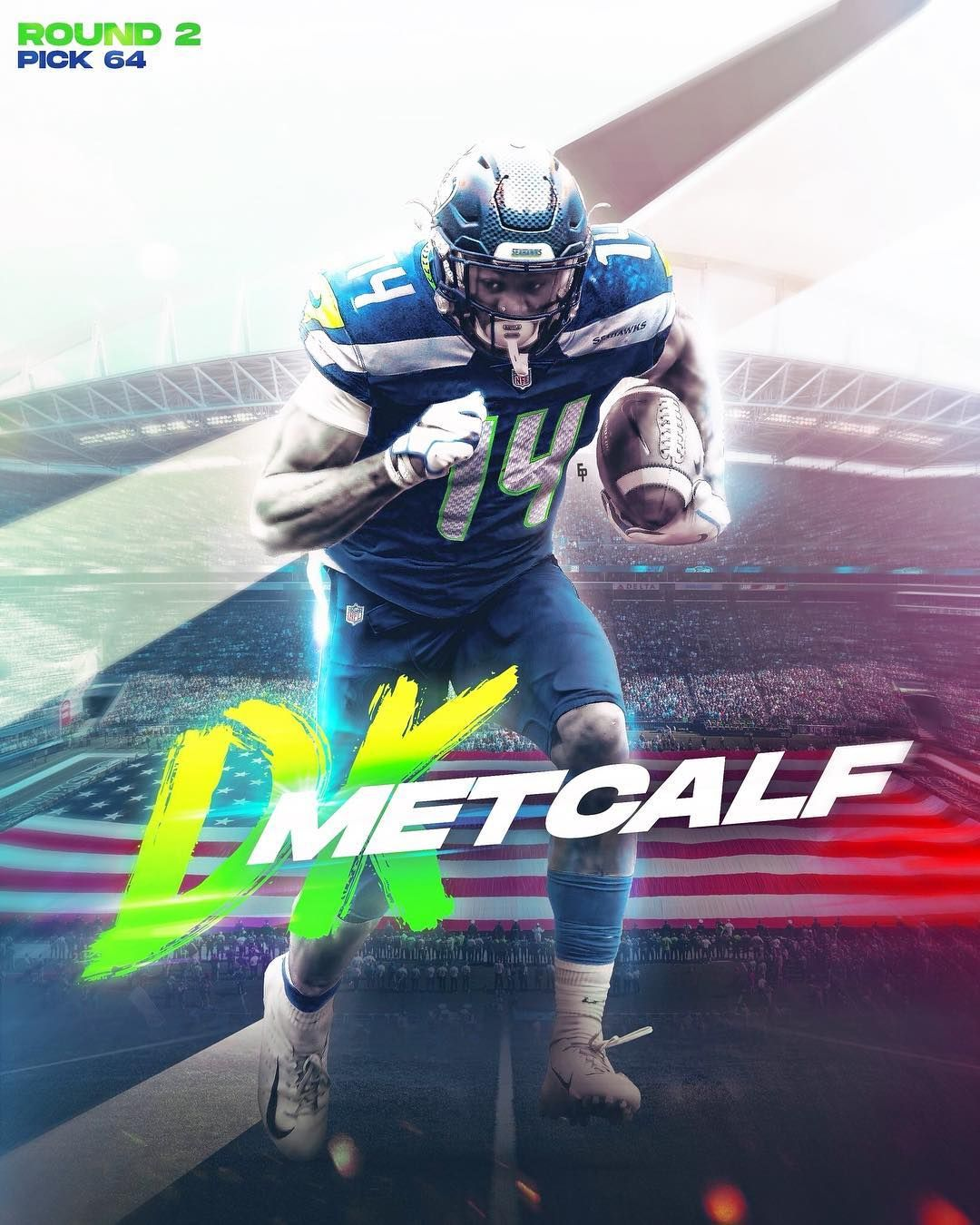 Enrique Castellano On Instagram D K Metcalf Is Now A Seattle Seahawk After Falling Drastically In The D Nfl Football Art Nfl Seahawks Nfl Football Wallpaper