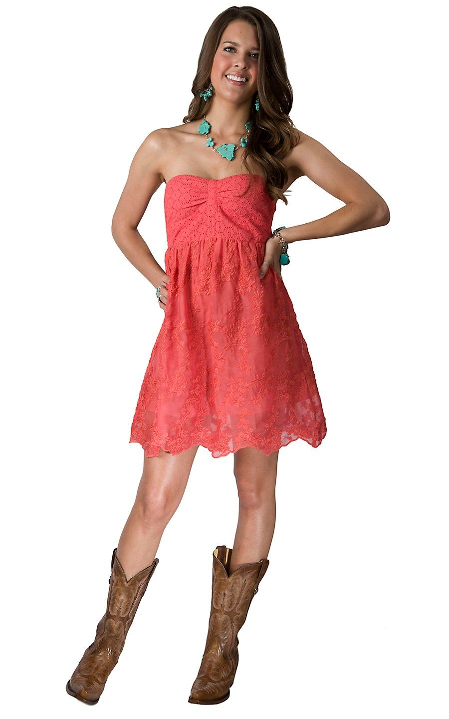 Rock & Roll Cowgirl Women's Coral with Aztec Embroidery Sleeveless ...