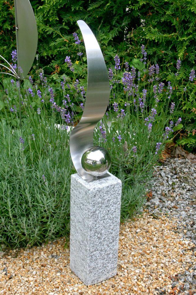 Steinsaule Granitsaule Gartendeko Edelstahl Kugel Va Steindeko Schiefersaule Metall Gartenskulpturen Steinsaule Steinfiguren Garten