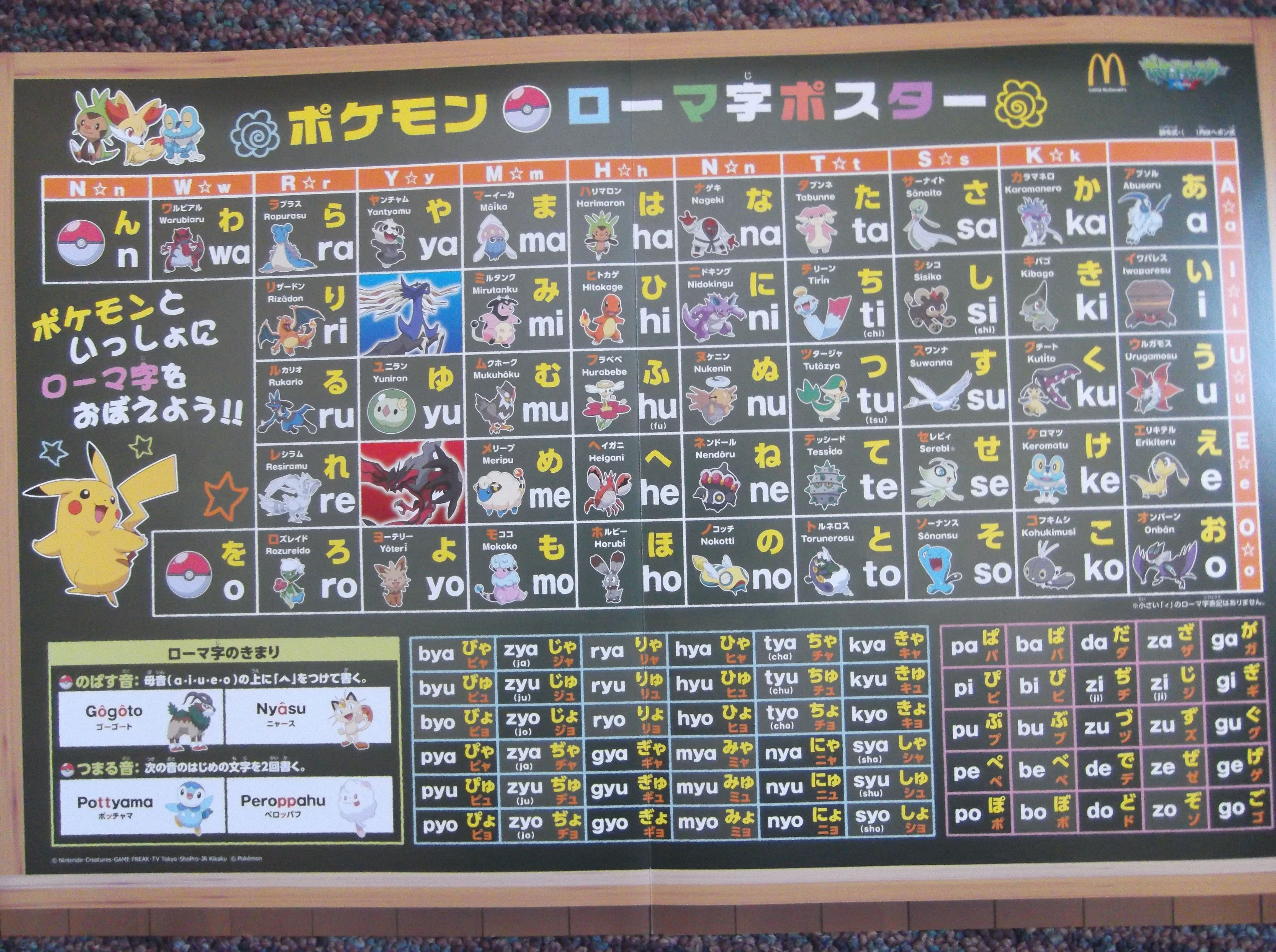 Learn basic Japanese with Pokemon! From a McDonald's in