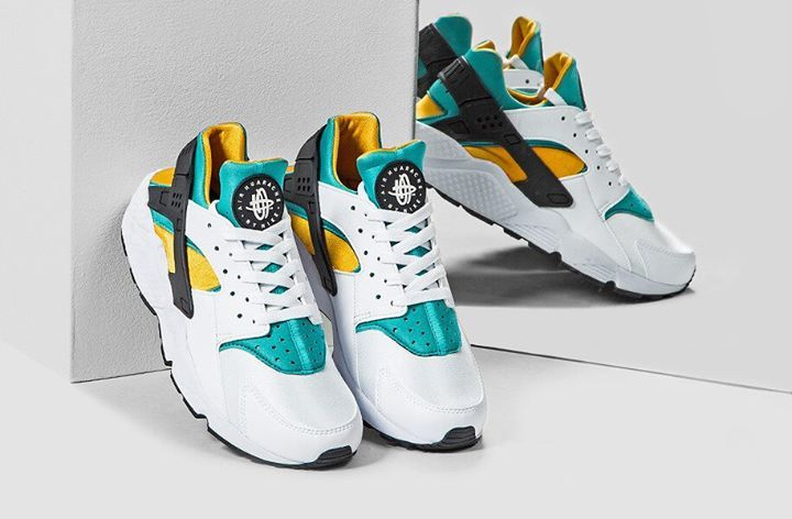 low priced 7c98e 668c9 On foot look at the Nike Air Huarache OG Yellow Green. Available now.