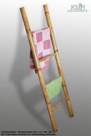 KMH, Handtuchhalter   Dekoleiter aus Bambus (natur) - (150 x 41 cm - handtuchhalter für küche