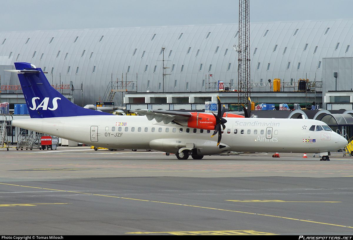 Sas Scandinavian Airlines Atr 72 600 Oy Jzf Cph Atr 72 Scandinavian Airlines System Sas Airlines