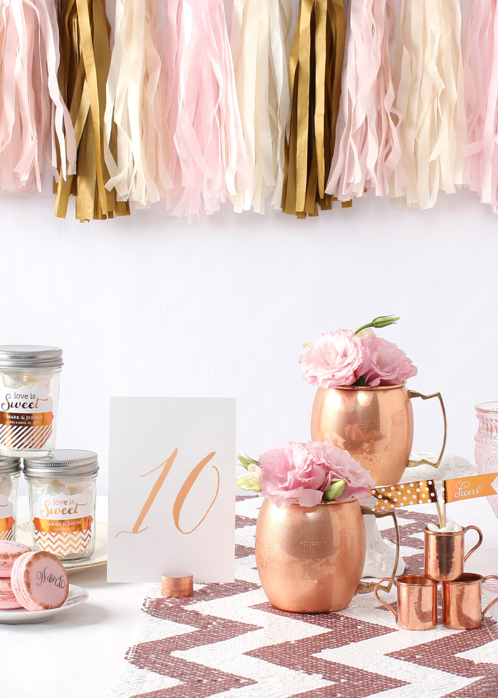 Plan your elegant and trendy wedding with cool copper and warm blush ...