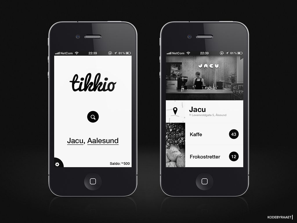 Black & White App design Mobile app design, App design
