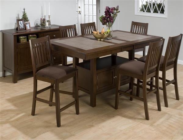 Jofran Furniture Caleb Brown Counter Height Table Dining Table With Storage Counter Height Dining Table Set Kitchen Table With Storage