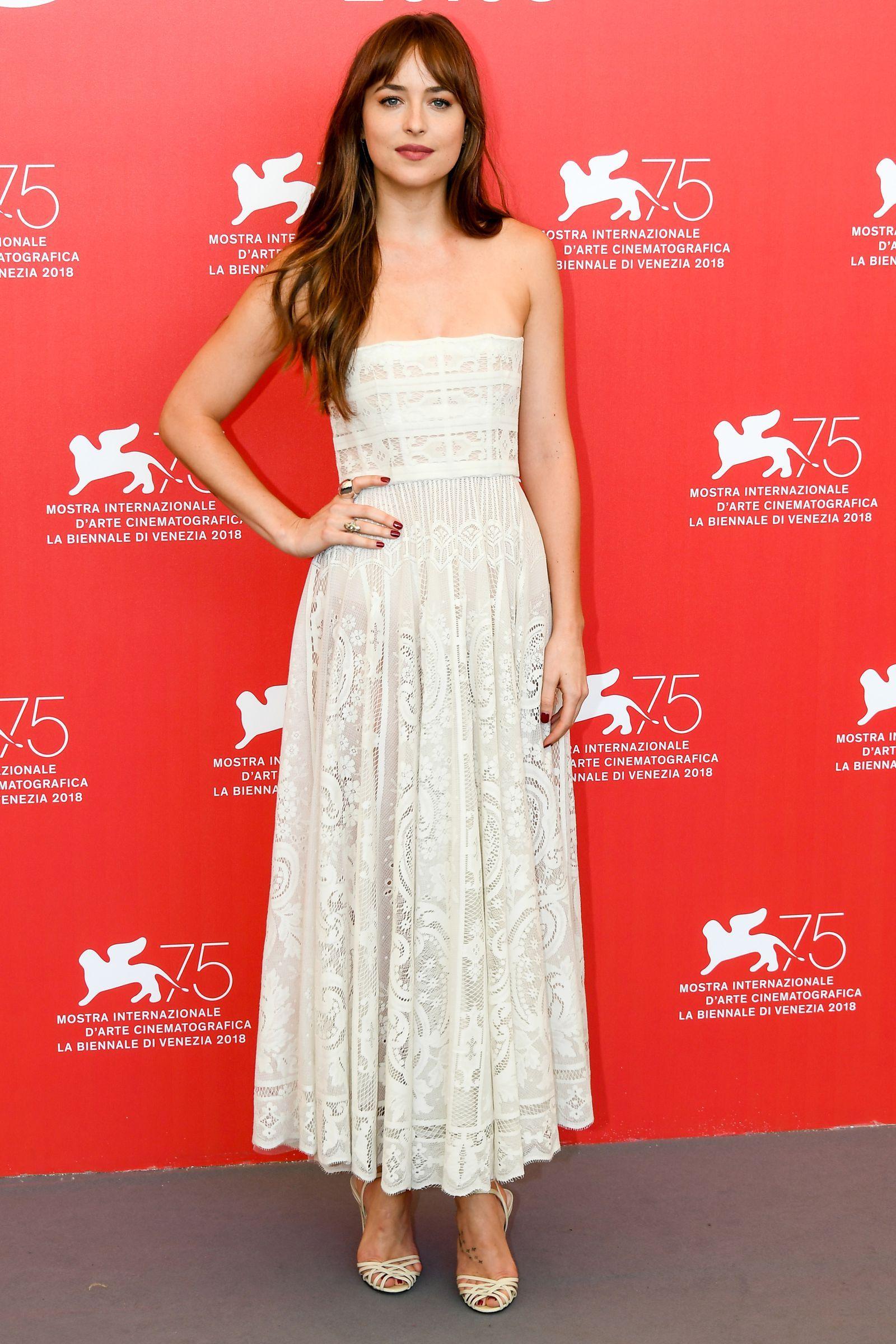 Dakota Johnson Just Wore The Reddest Red Carpet Gown At