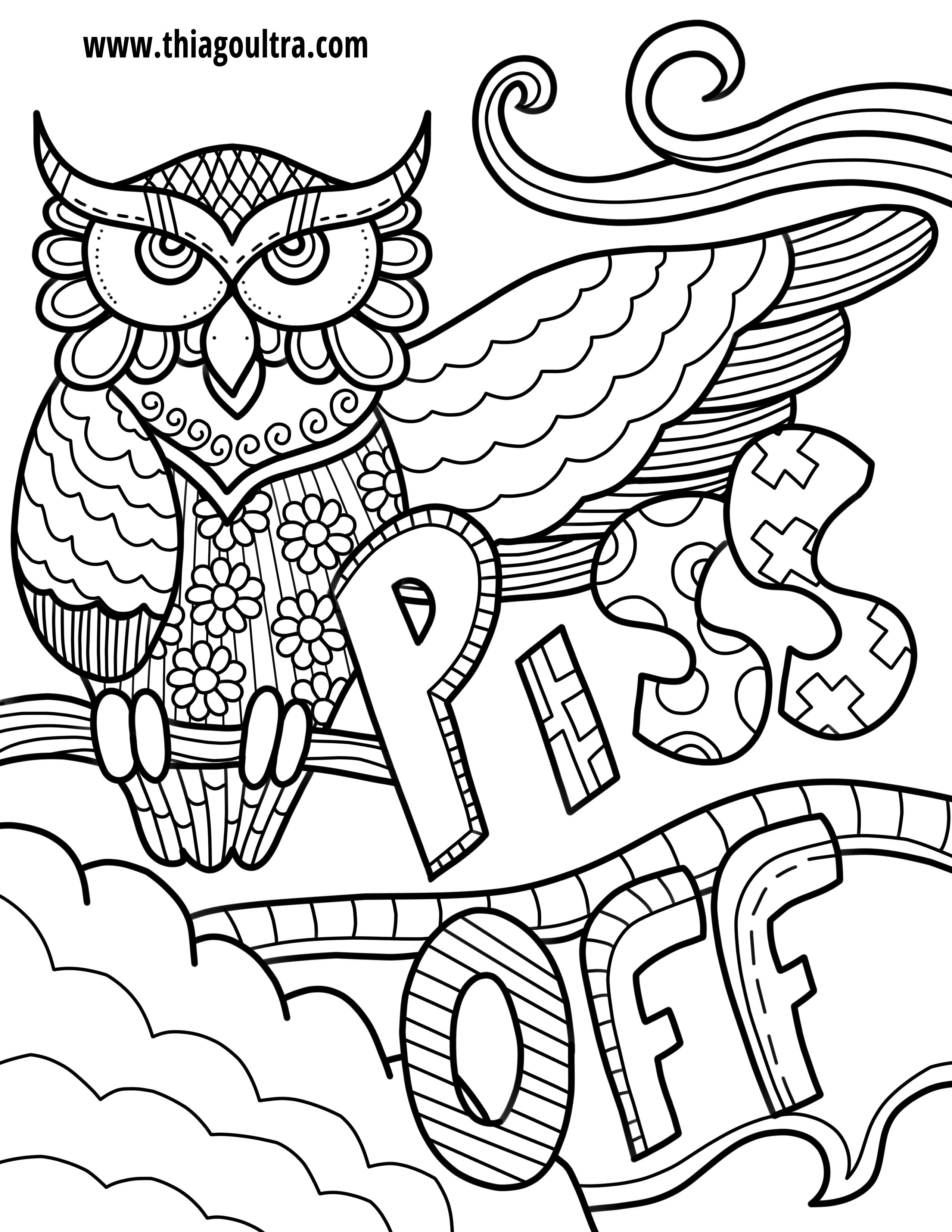 Pin by Melissa Toland on dirty coloring pages | Pinterest | Owl