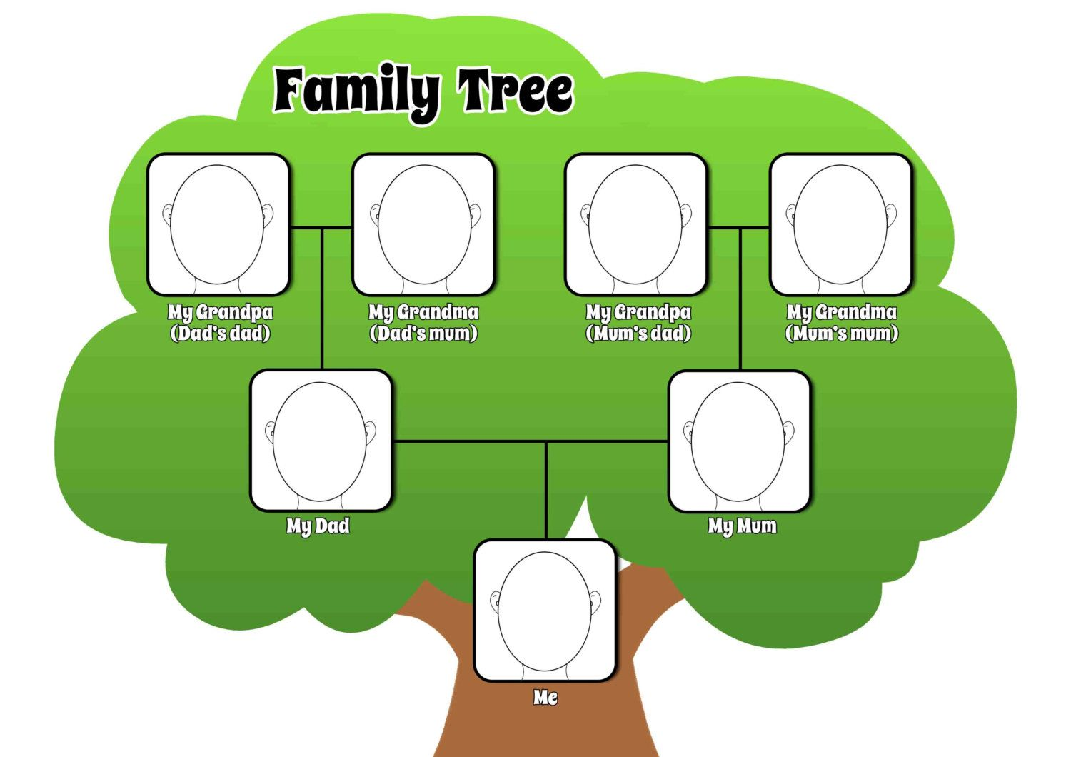 How Do I Draw A Family Tree Diagram Rv Style Trailer Plug Wiring Printable Pdf Page To Complement Any Lesson