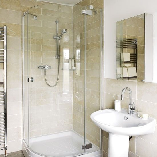 Corner shower for small bathroom google search for Small ensuite bathroom