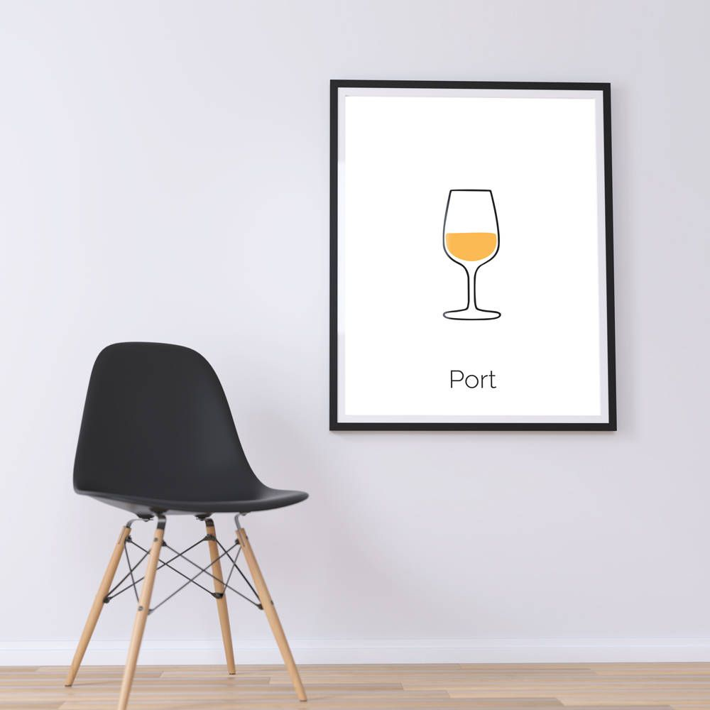 Port Wine Port Restaurant Decor Kitchen Wall Decor Wine Glass