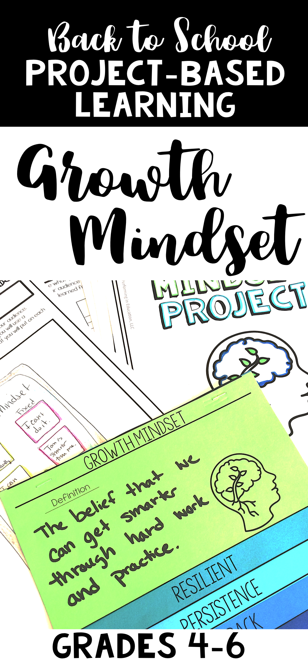Growth Mindset Project Based Learning Back To School