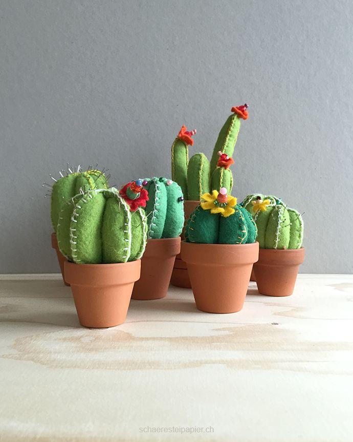 der kaktus wird umgetopft nadelkissen zum selber n hen diy ideas diy ideen pinterest. Black Bedroom Furniture Sets. Home Design Ideas