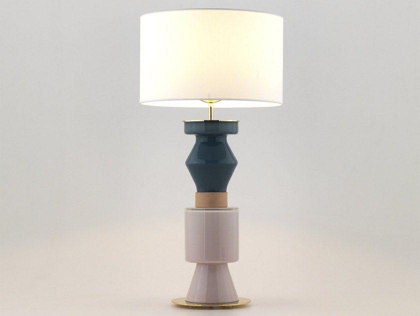 Lampada da tavolo in vetro colorato con braccio fisso home