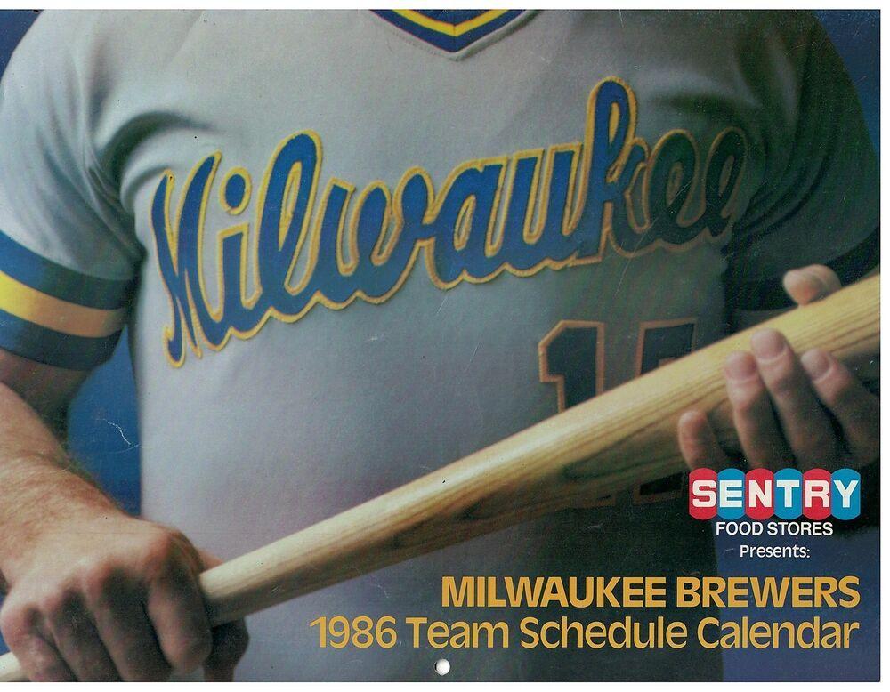 Details about Vintage 1986 Milwaukee Brewers Calendar