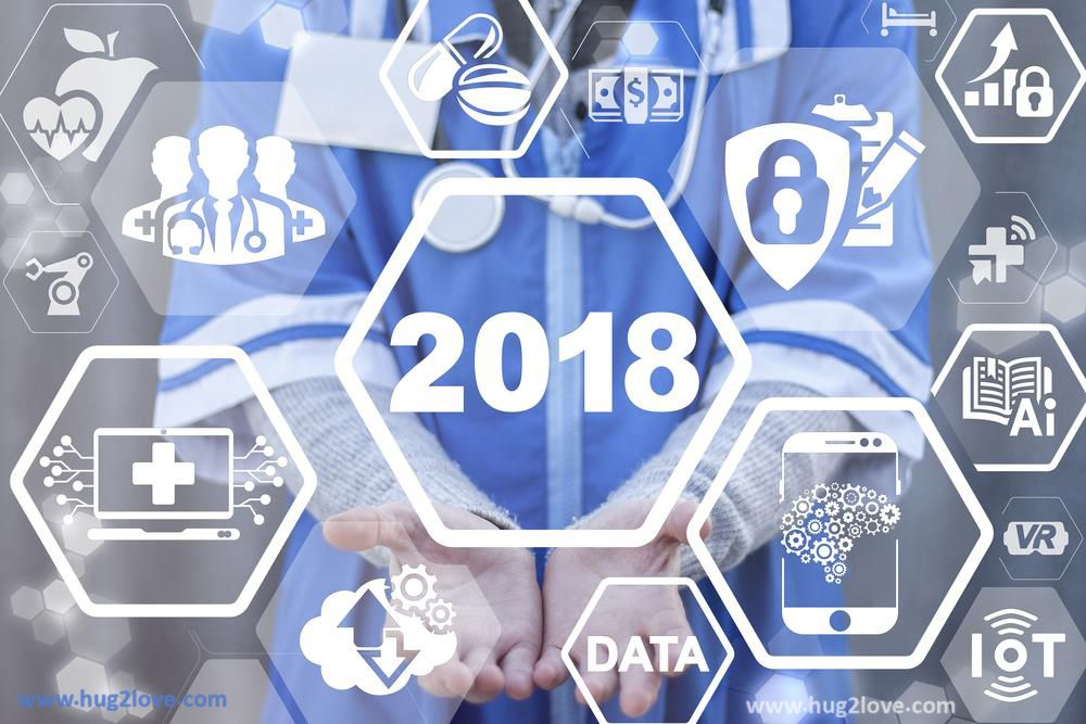 tech style new year 2018 image hd