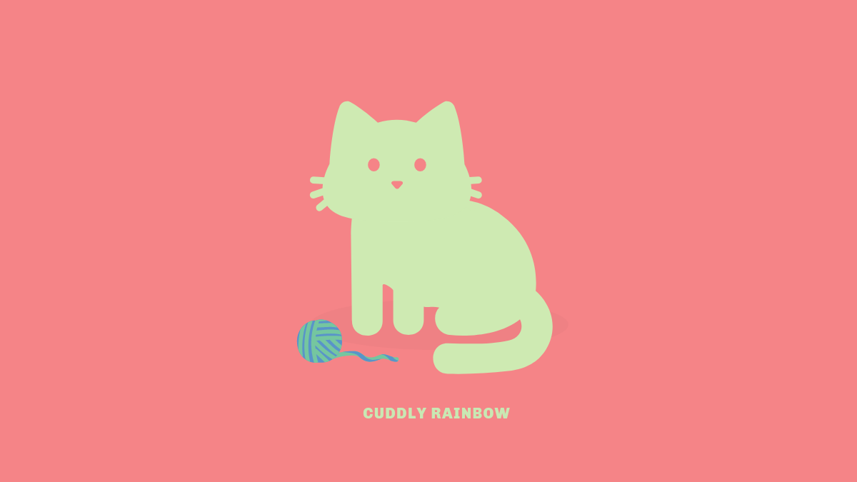 Cuddly Rainbow Is An Amazing Technicolor Color Changing Kitty Found With The Tabby Cat Chrome Extension Tabby Cat Cuddly Tabby
