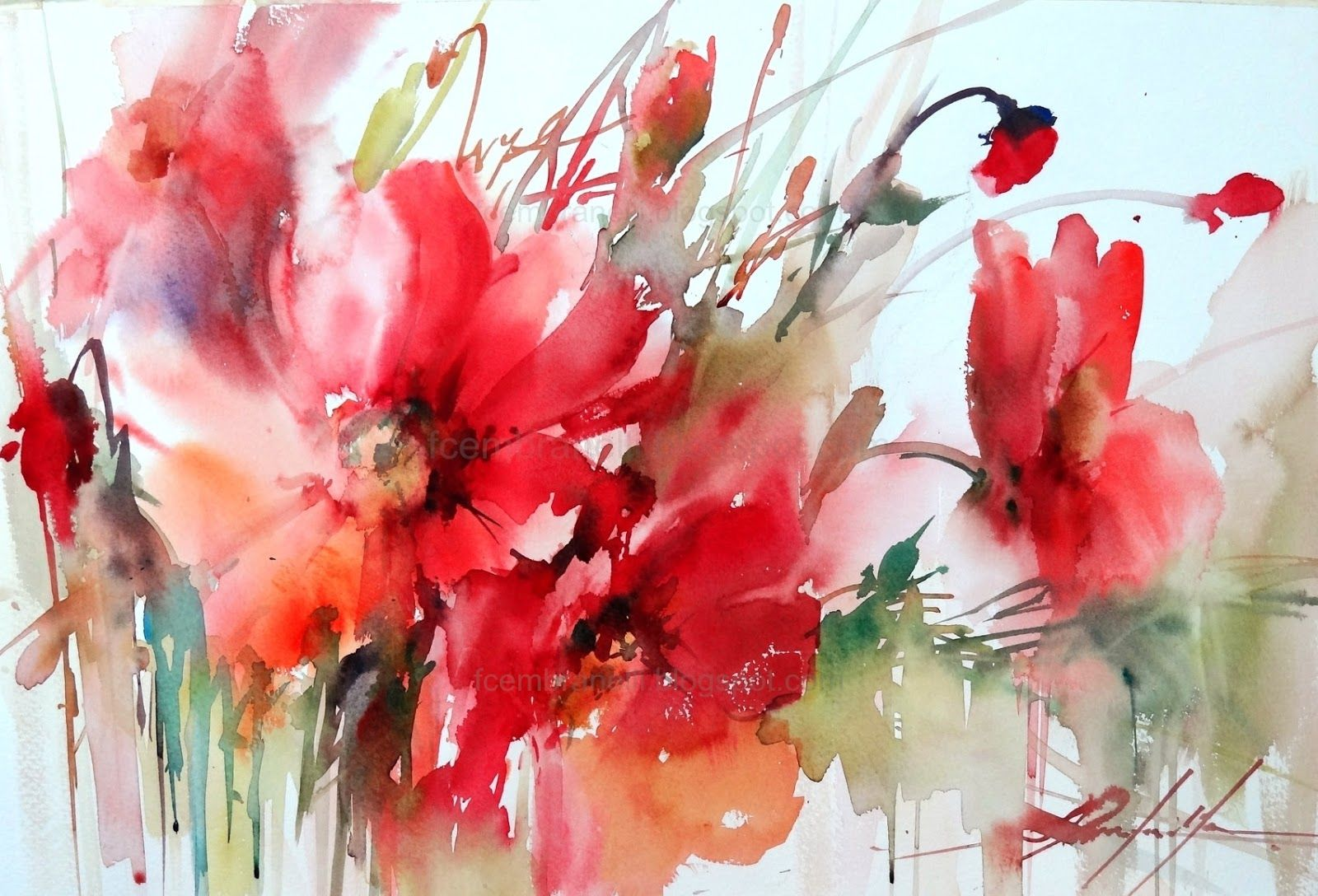 A Painter S Diary Flower Painting Watercolor Flowers Flower Art