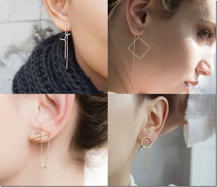 Unconventional Earrings Threader Earring Styles Jewelry Inspiration