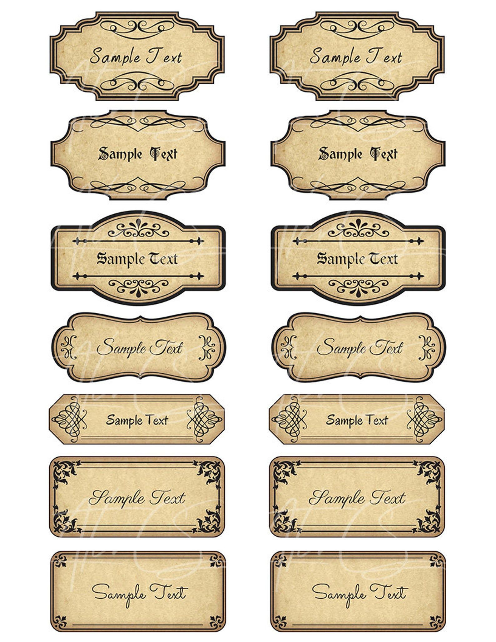 15 Printable Blank Vintage Apothecary Labels Set Editable Etsy In 2020 Apothecary Labels Labels Printables Free Vintage Labels Printables