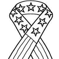 4th Of July Patriotic Ribbon Coloring Page July Colors American Flag Coloring Page Printable Coloring Pages
