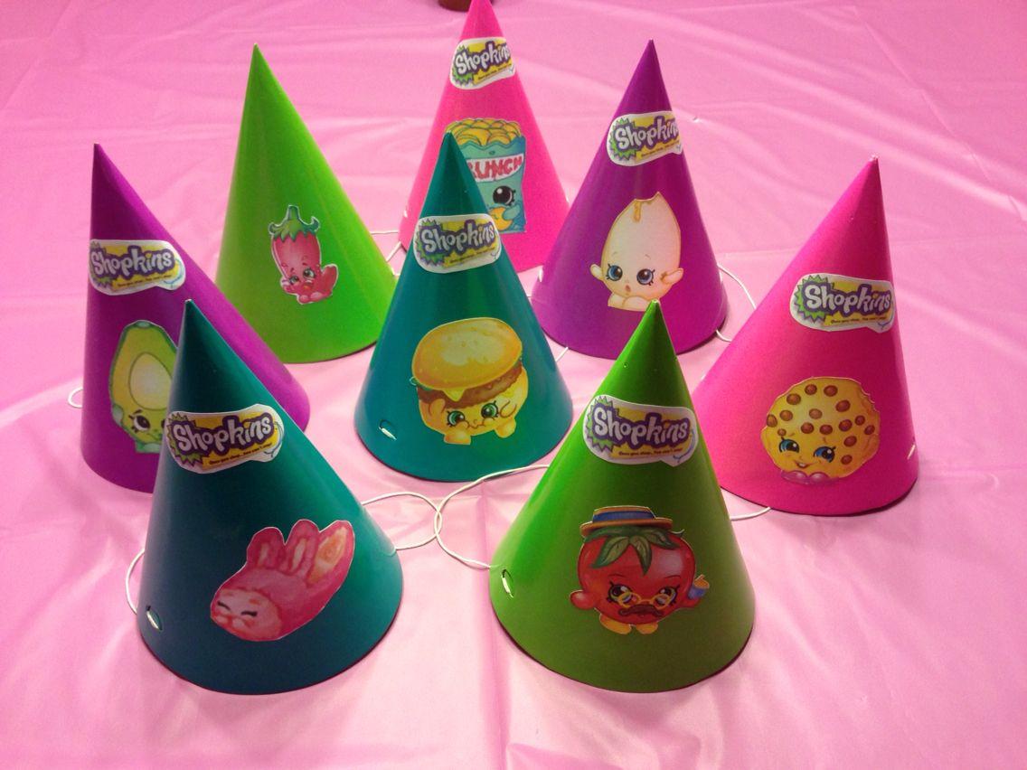 Shopkins birthday hats shopkins party - Geburtstagsideen zum 90 ...