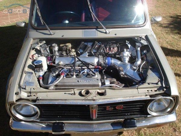 1978 LEYLAND MINI LS hi Ho Silver Toyota Starlet Engine