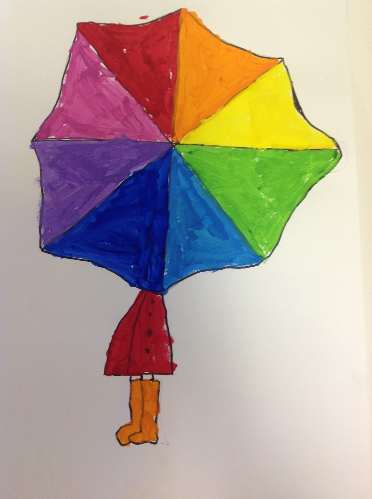 Co color wheel art - Everything Looks Better In Color Right Even A Rainy Day 2nd Grade