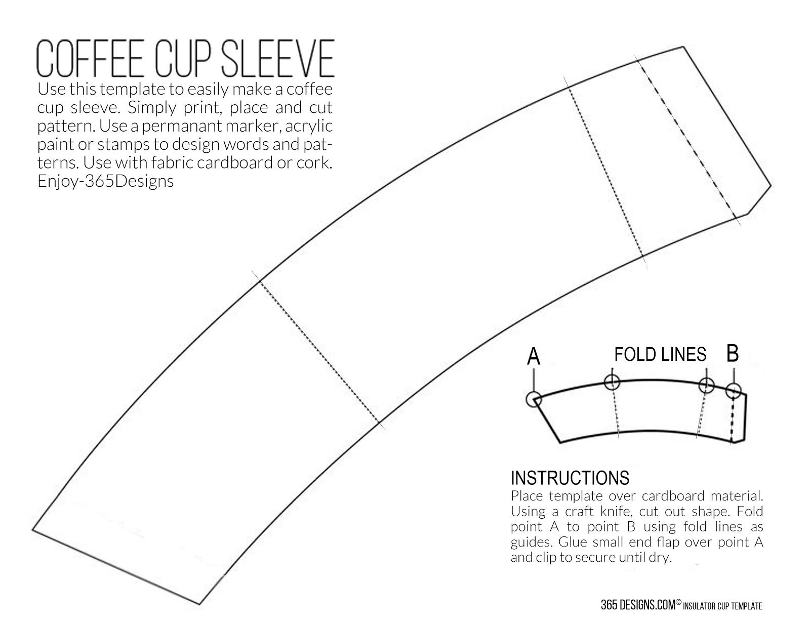 New mccaf single brew coffee with printable cup sleeve for Coffee cup wrapper template