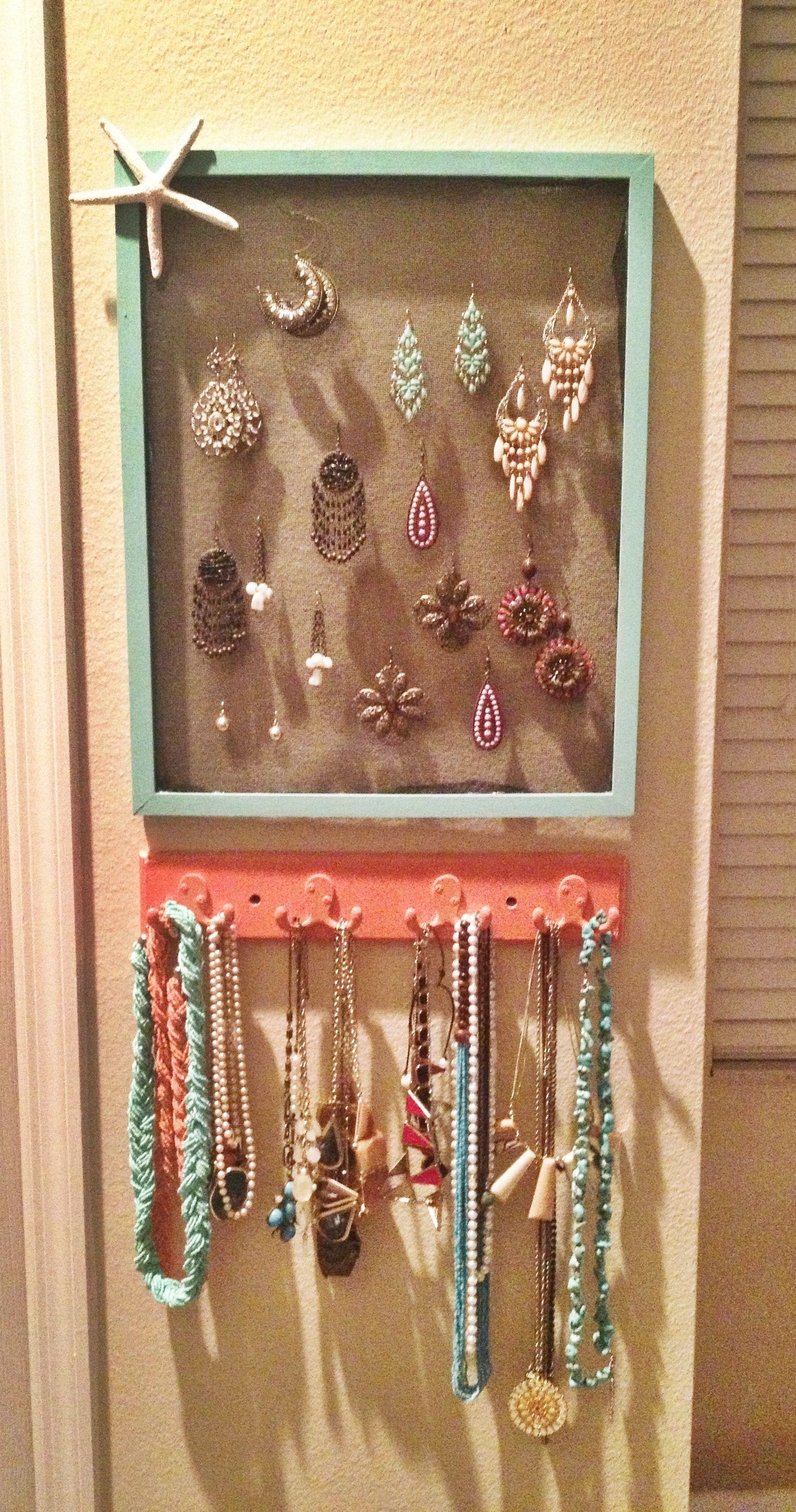 Diy Jewelry Holder Ideas Display Storage Organizer Wall Frame