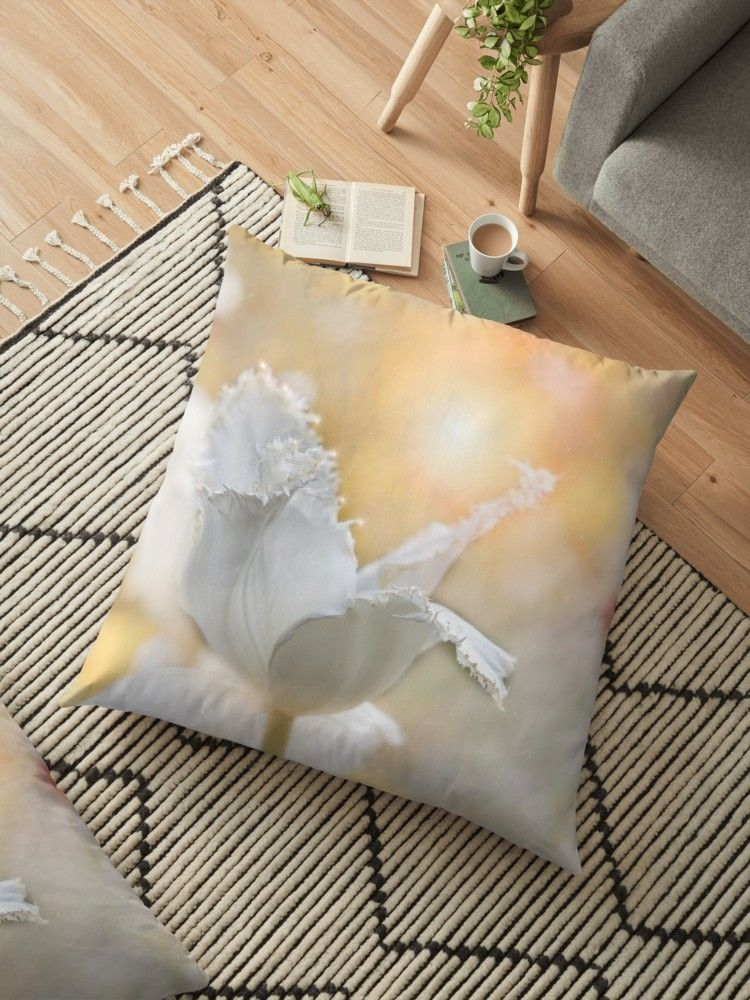 Romantic Tulip A Simple Tulip With A Slight Abstract Design Overlay To Create The Soft Romantic Look Stylish Throw Pillows Decorative Throw Pillows Romantic
