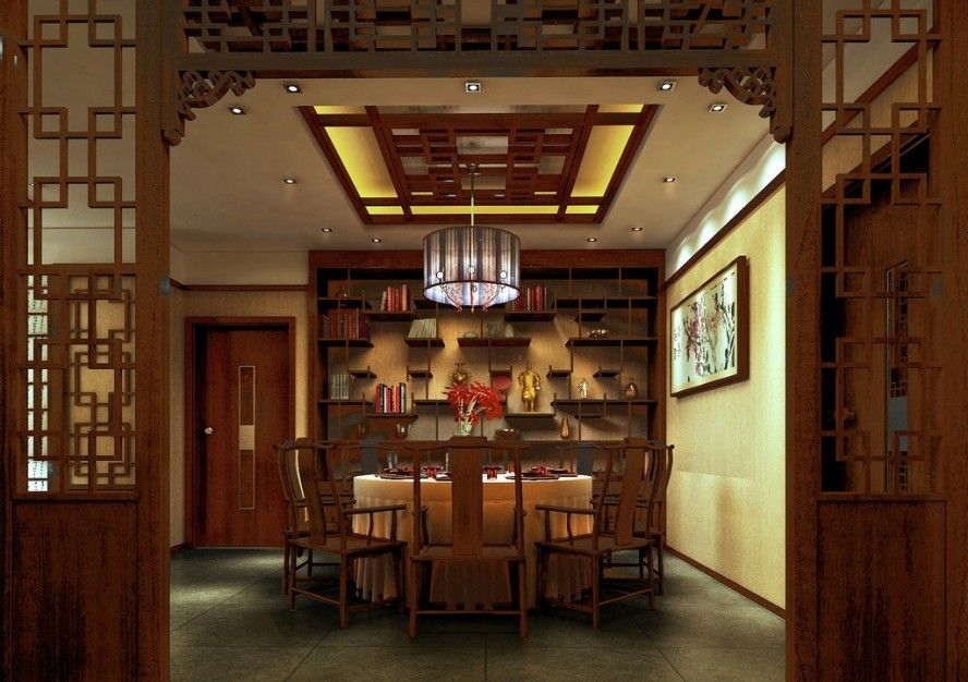 Asian Dining Table Modern Asian Restaurant Interior Design Round