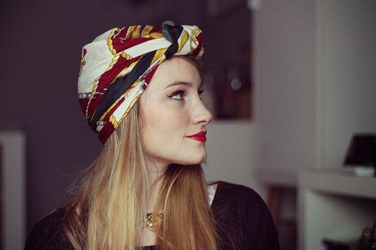 tuto porter bandana cheveux Foulard pashminas Turban