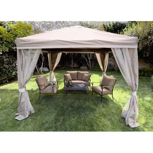 Portable 10 X 10 Pitched Roof Patio Gazebo Patio Gazebo