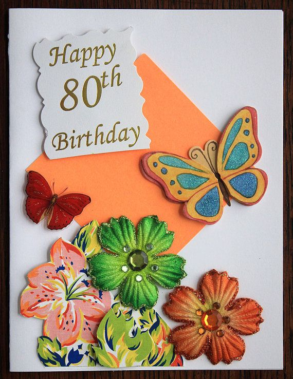 A Happy 80th Birthday Card Cards Pinterest 80th Birthday Cards