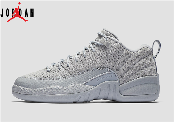 3bbd4bfd8dda97 Men s Air Jordan 12 Low Retro Wolf Grey Basketball Shoes Wolf Grey Armory  Navy 308317-002