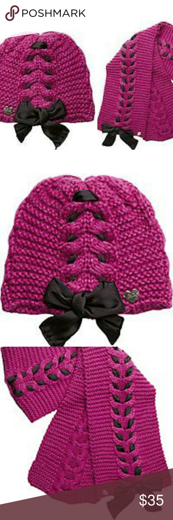 b2deb53b957 Gifts! Betsey Johnson Winter Hat   Scarf Set Pink New with tags ...