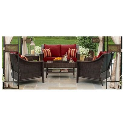 Target Home Rolston Wicker Patio Furniture Collection Red Back